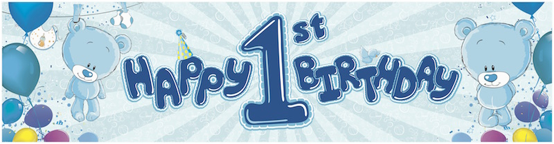 Happy Third Birthday Banner Giant Banners Partymoods events
