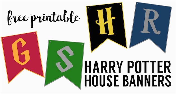 harry potter house banners free printable