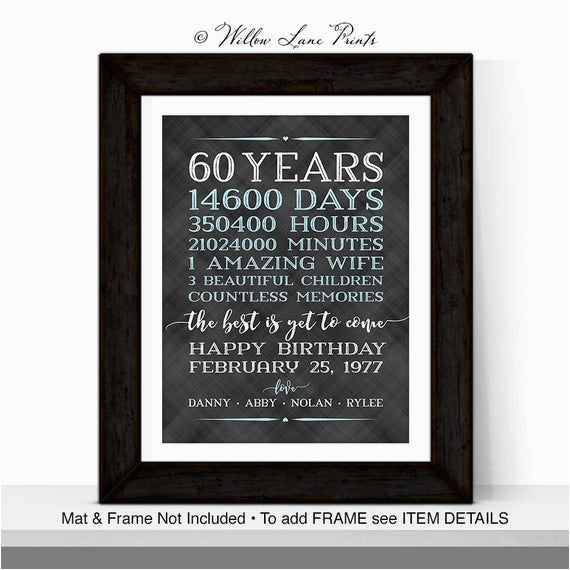 60th birthday gifts men husband adult