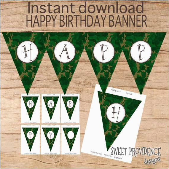 happy birthday banner instant download