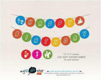 search q lego birthday banner