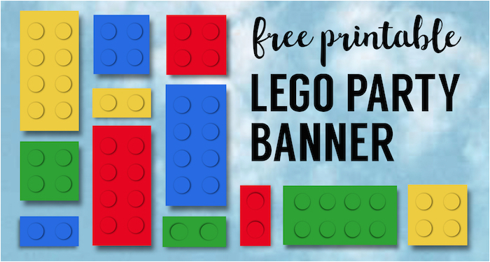 Lego Happy Birthday Banner Free Printable Lego Banner Lego Party Printables Paper Trail Design