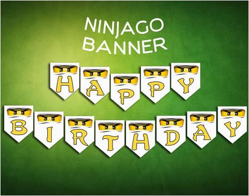 ninjago lego banner birthday party digital printable