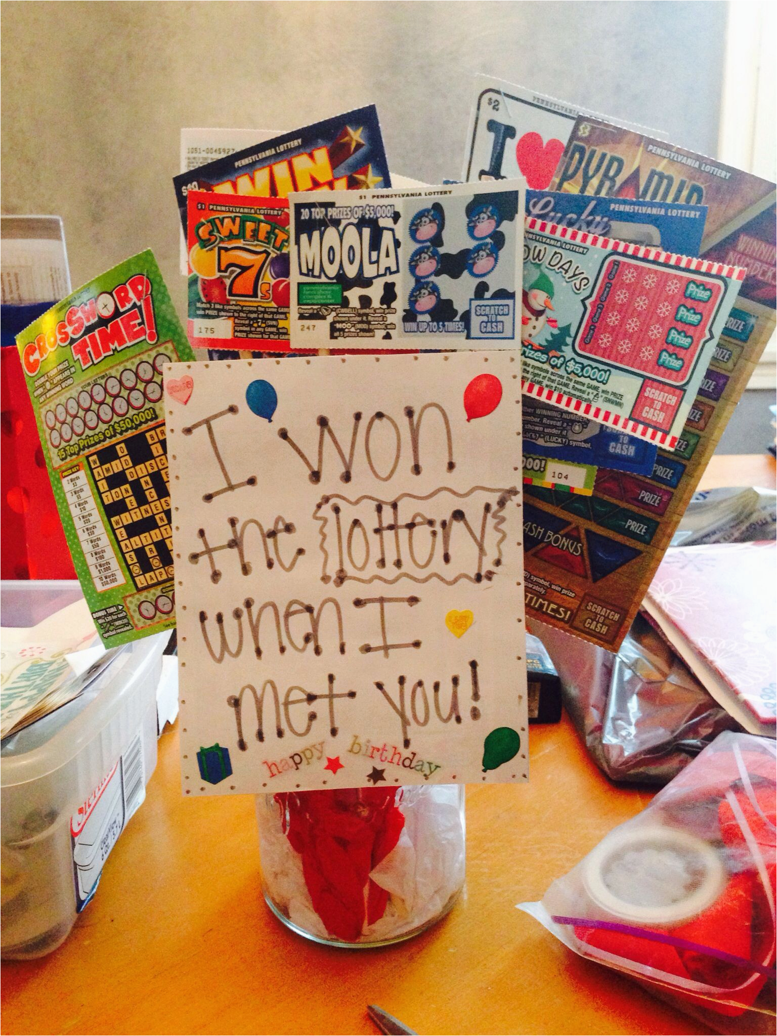 List Of Best Birthday Gifts for Husband Lottery Tree Quot I Won the Lottery when I Met You