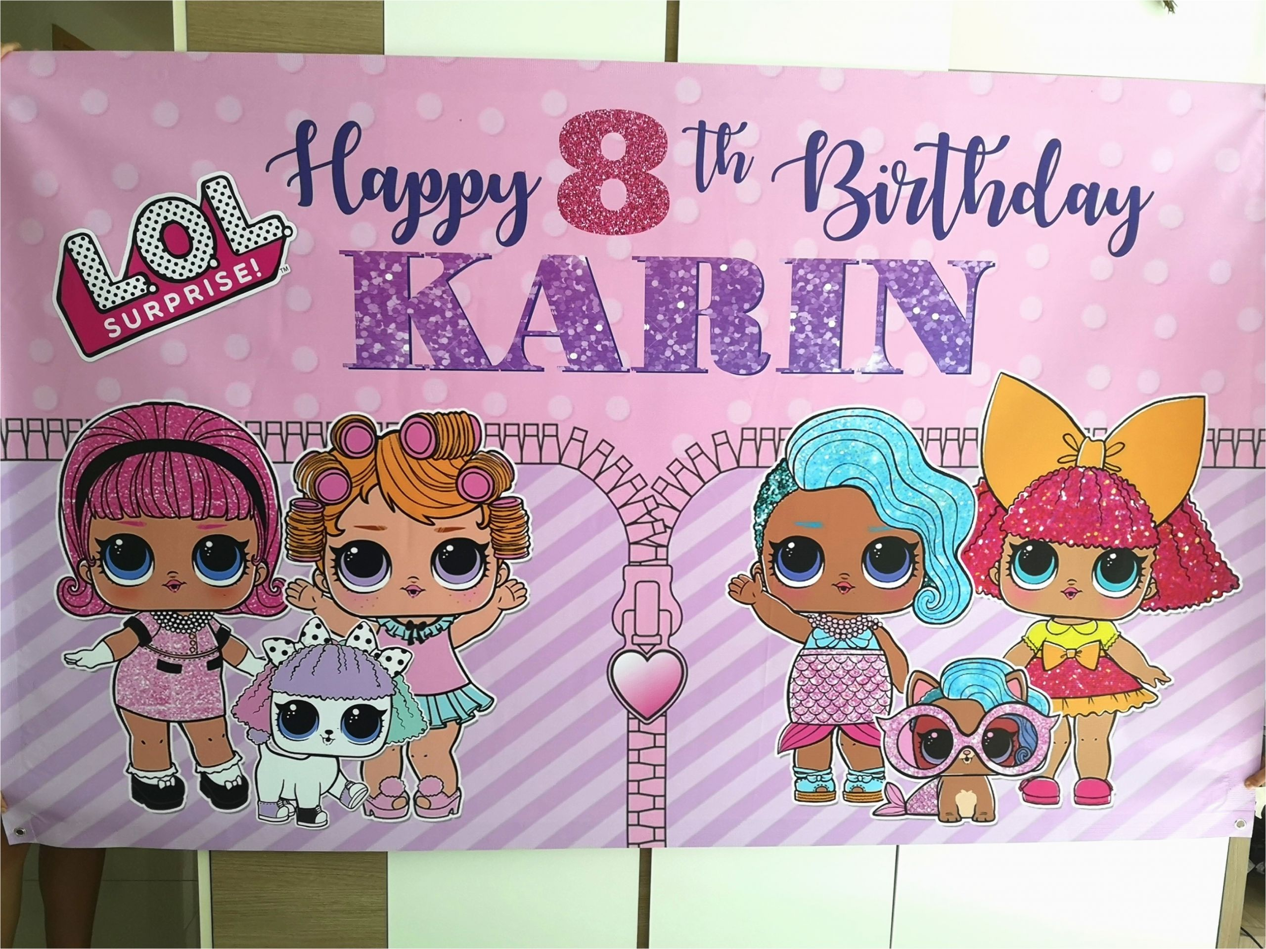 personalised pvc banner for birthday party decoration dessert table backdrop lol surprise 194710846