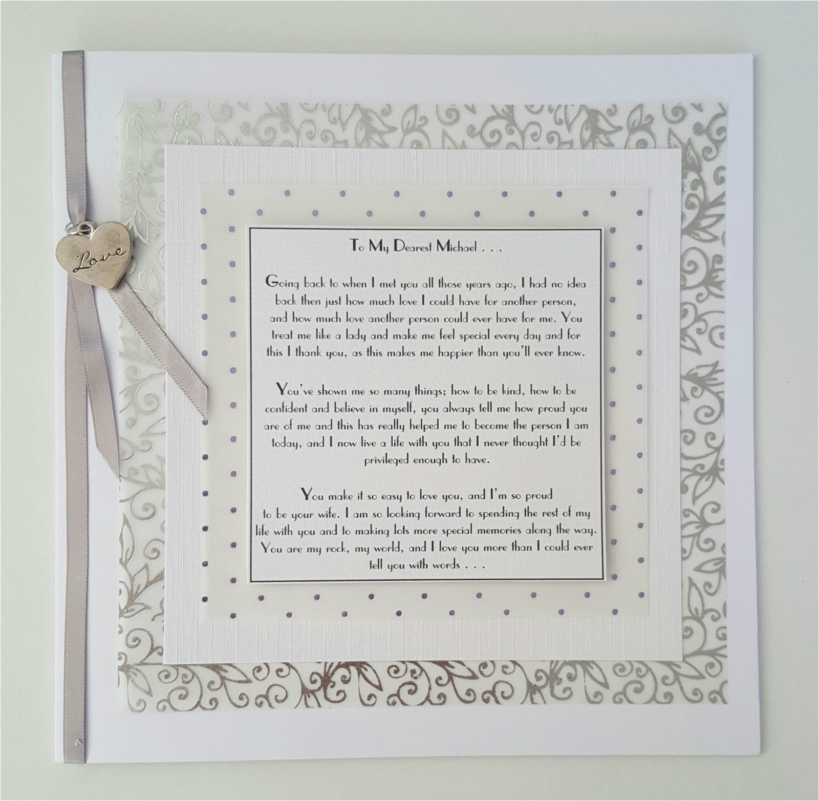 luxury gift boxed personalised cards birthday anniversary wedding husband wife