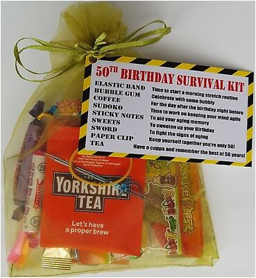 50th birthday survival kit funny gift present for 153172542883