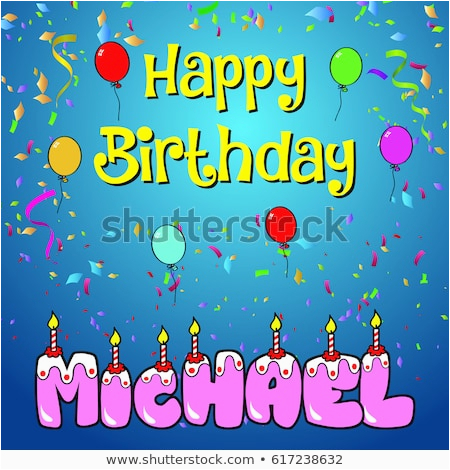 Michaels Happy Birthday Cake Banner Happy Birthday Paul Stock Vector 617238185 Shutterstock