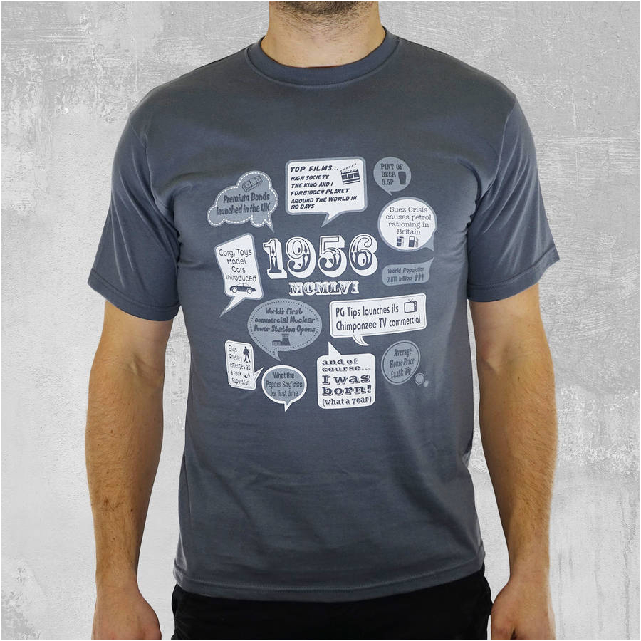 events of 1954 60th birthday t shirt