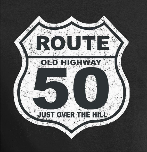 Over the Hill Birthday Gifts for Him 50th Birthday Gift 50 Years Old Over the Hill Shirt T