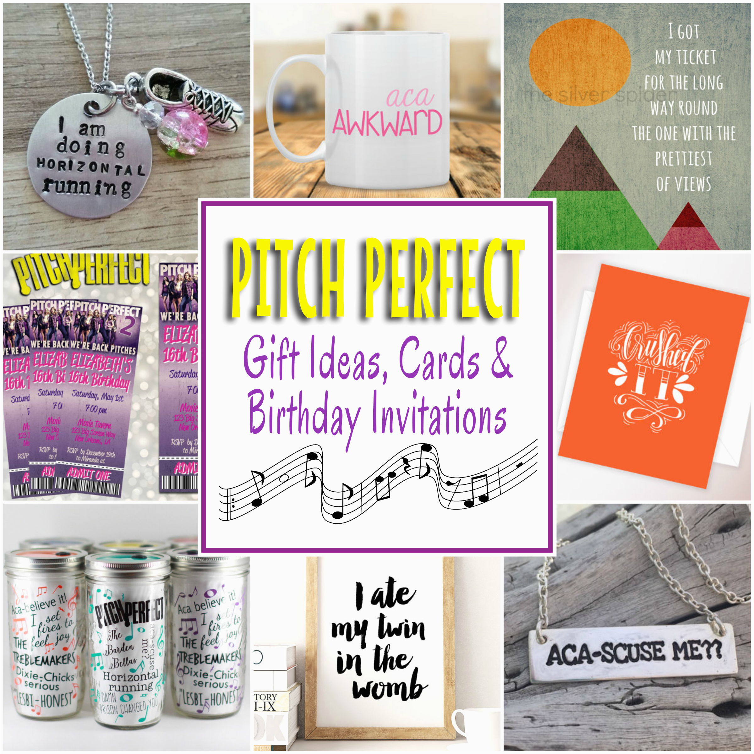 Perfect Birthday Present for Him Pitch Perfect Gifts Cards and Birthday Party Invitations