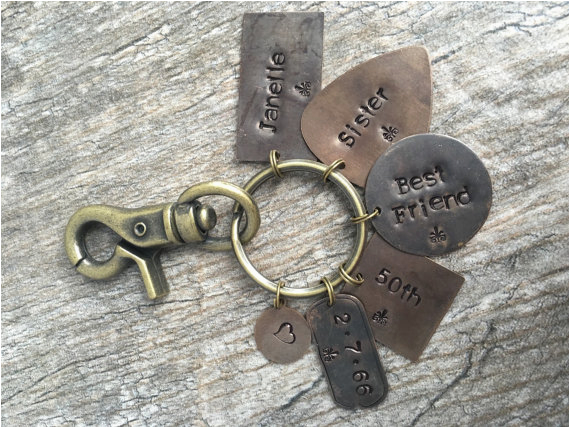 personalized key chain50th birthday gift