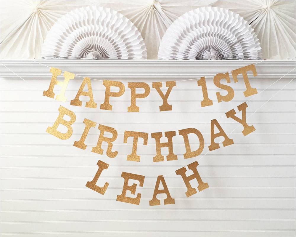 custom birthday banner glitter 5 inch