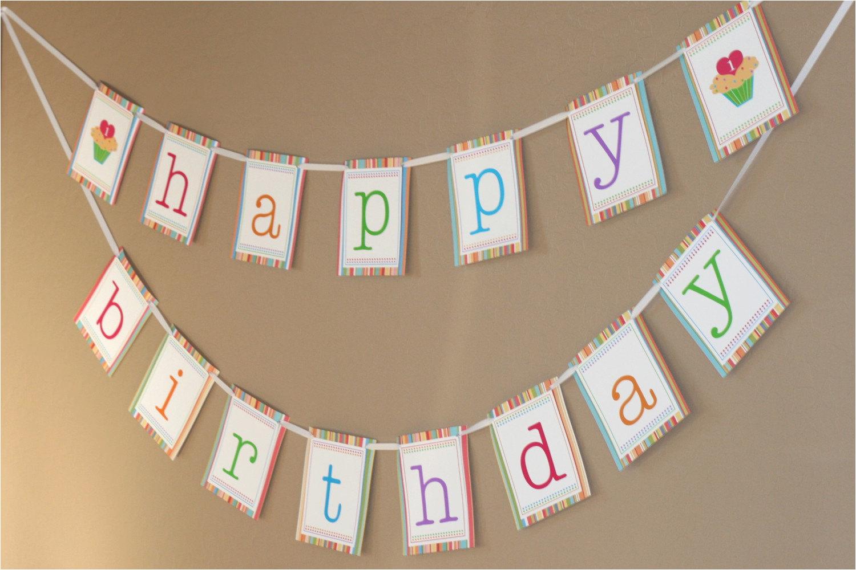 printable happy birthday banner sweet