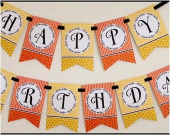happy birthday banner fiesta print your
