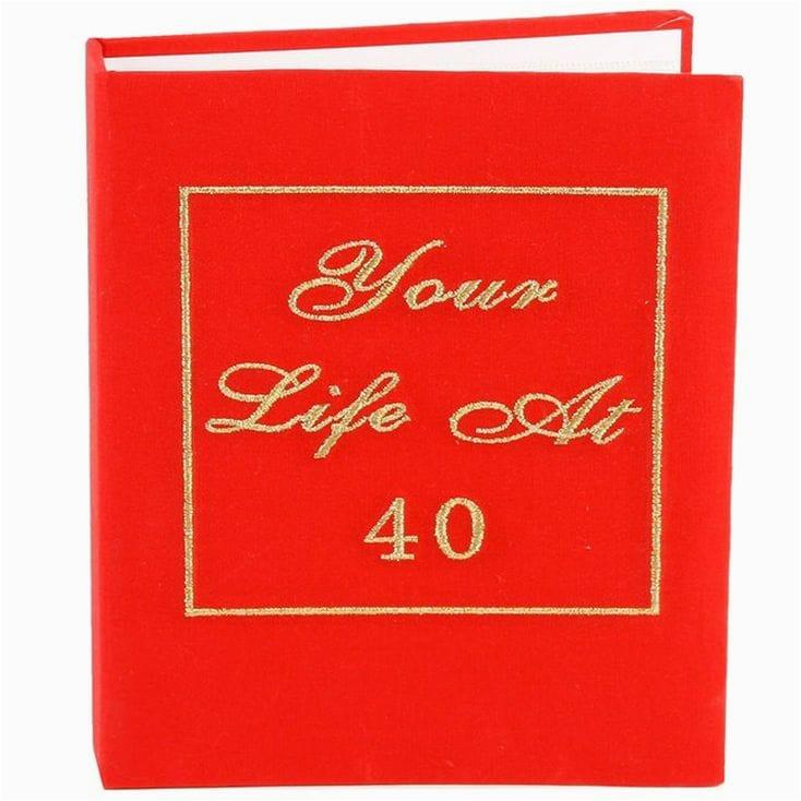 40th birthday photo album