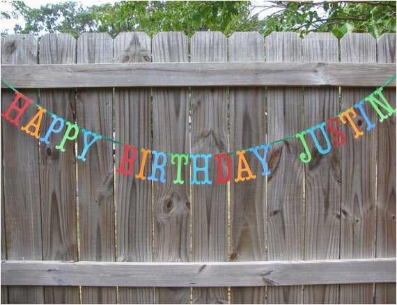 Small Happy Birthday Party Banner Personalized Happy Birthday Banner Made to order
