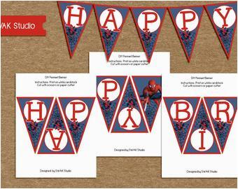 search q spiderman birthday banner
