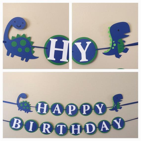 blue and green dinosaur happy birthday