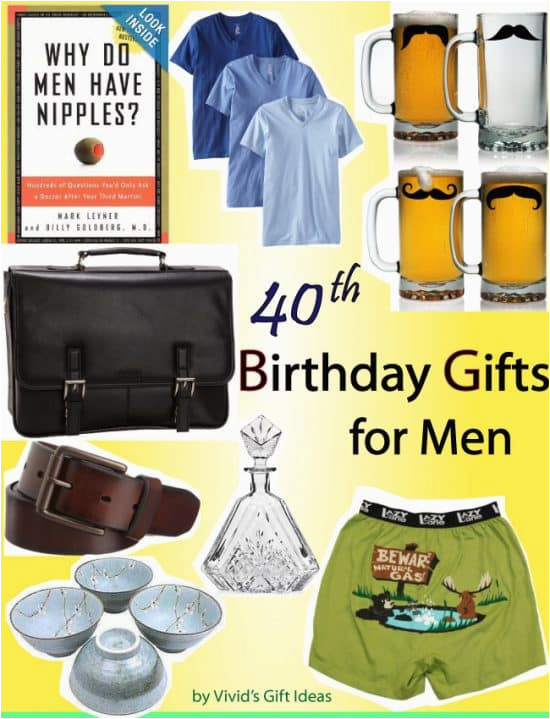 40th birthday gift ideas men