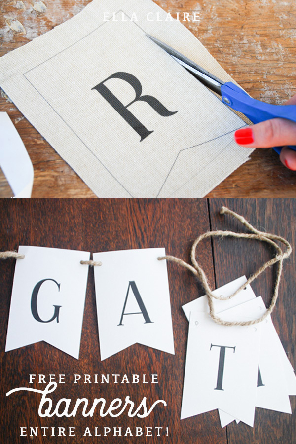 free printable bunting flags and