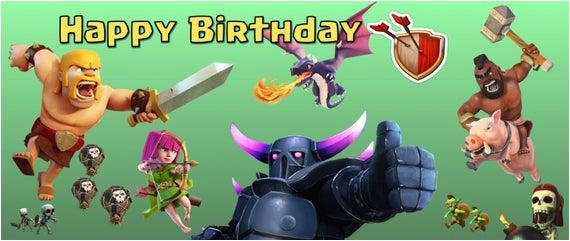 clash of clans birthday banner generic