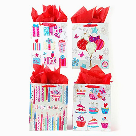 Walmart Birthday Gifts for Him Flomo Birthday Happiness Gift Bags 12 Pack Walmart Com