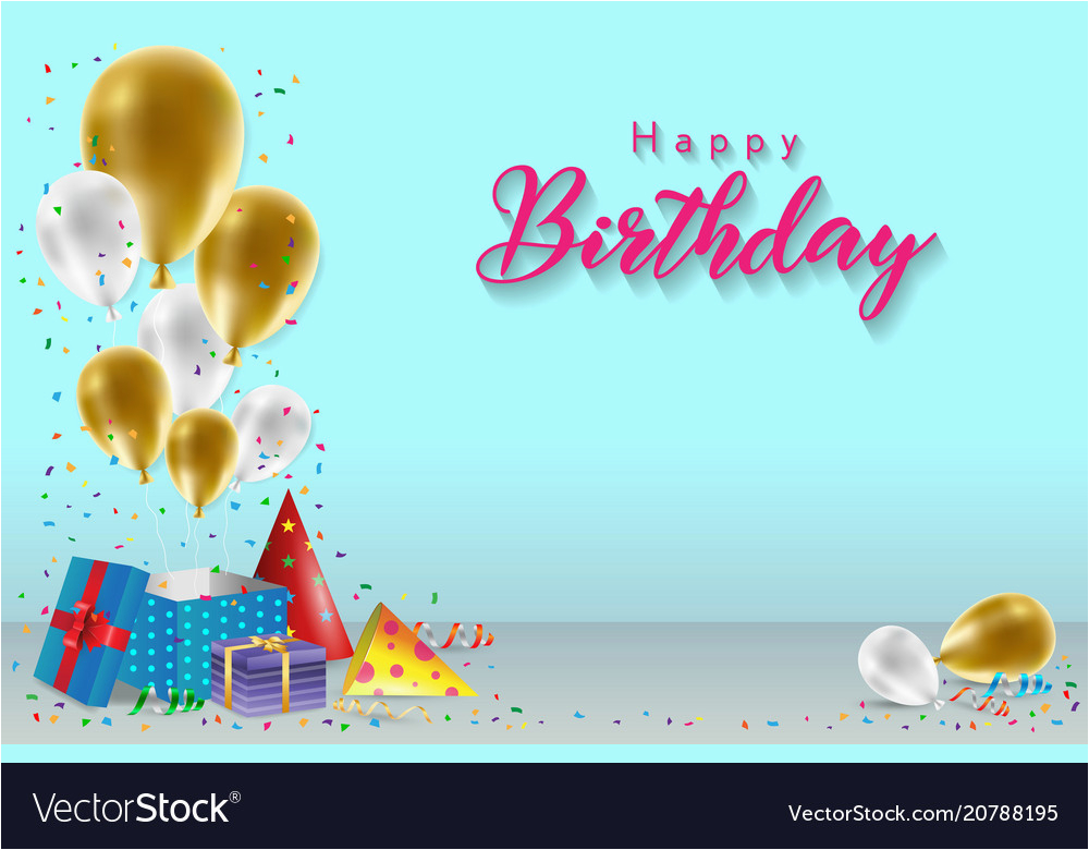 Wish Wallpapers Happy Birthday Banner Happy Birthday Background Template Royalty Free Vector Image