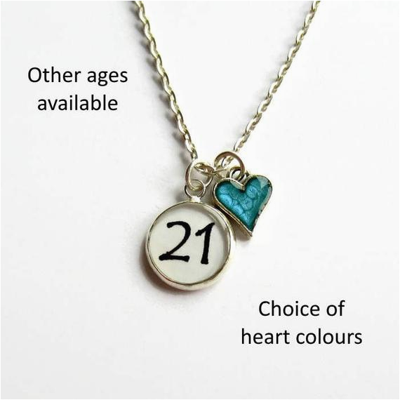 21st birthday charm necklace 18th