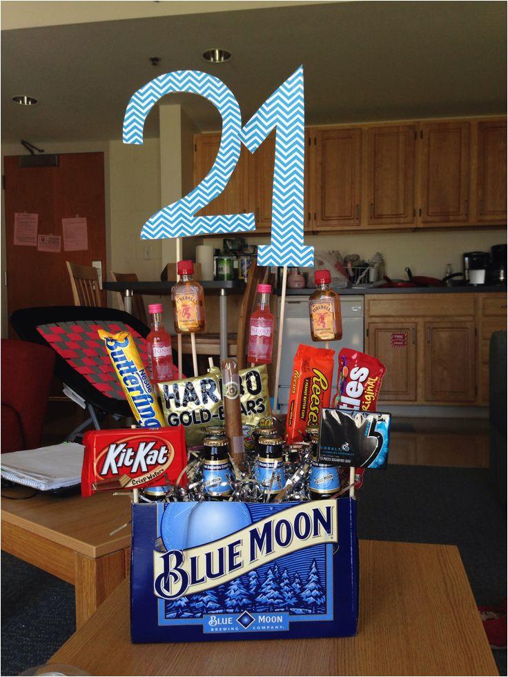 21st birthday basket