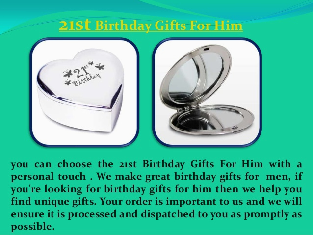 21st birthday gifts for him