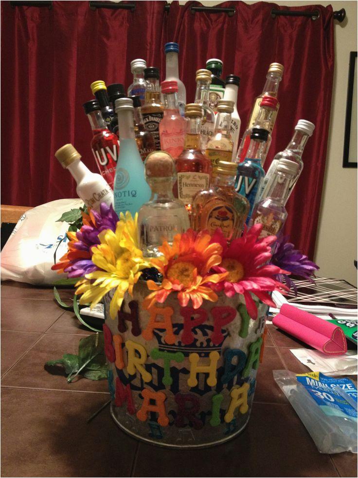 23rd Birthday Ideas for Him Maria 39 S 23rd Birthday Shot Gift Basket Shot Bottle Gift