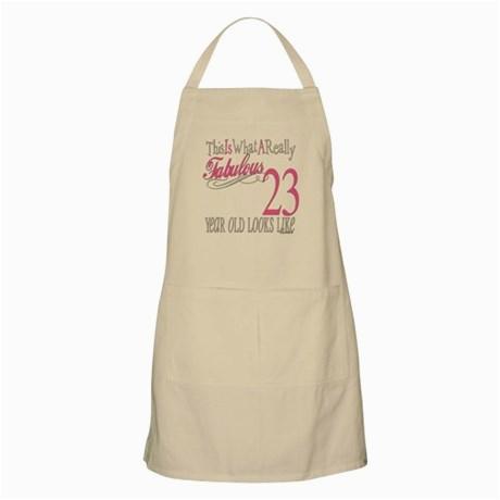 23rd birthday gifts bbq apron 180345555