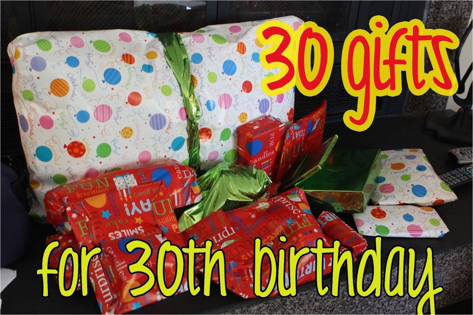 10 unique 30th birthday gift ideas for boyfriend