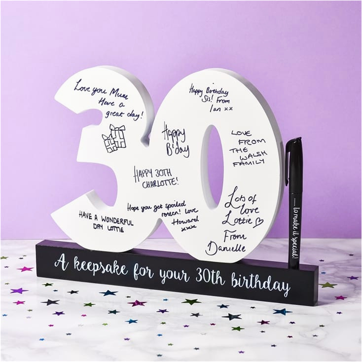 30th birthday signature numbers