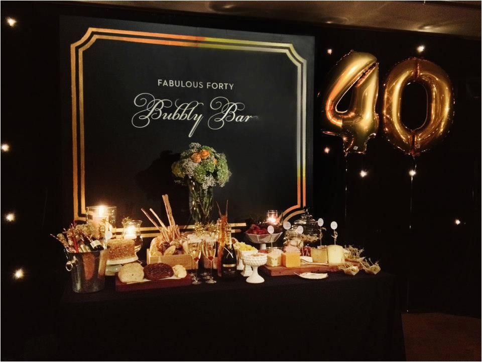40 Year Old Birthday Party Ideas for Him Fabulous 40th Birthday Party 40th Birthday Decorations