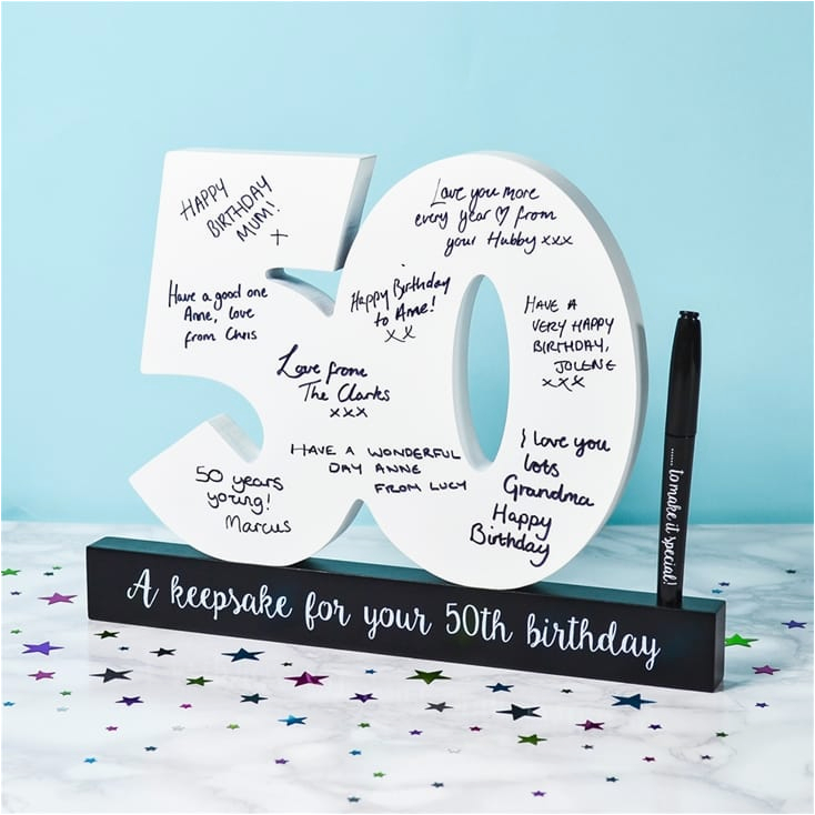 50th birthday signature numbers