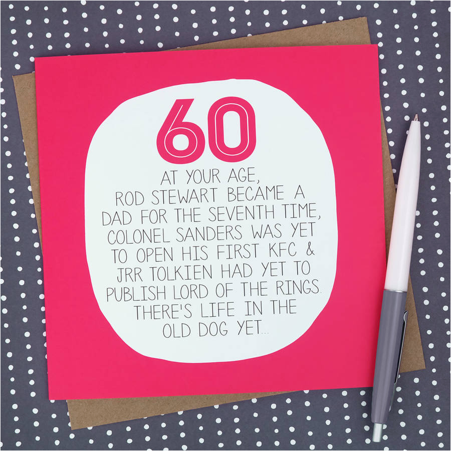 by your age funny 60th birthday card