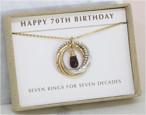 70th birthday gift for women garnet