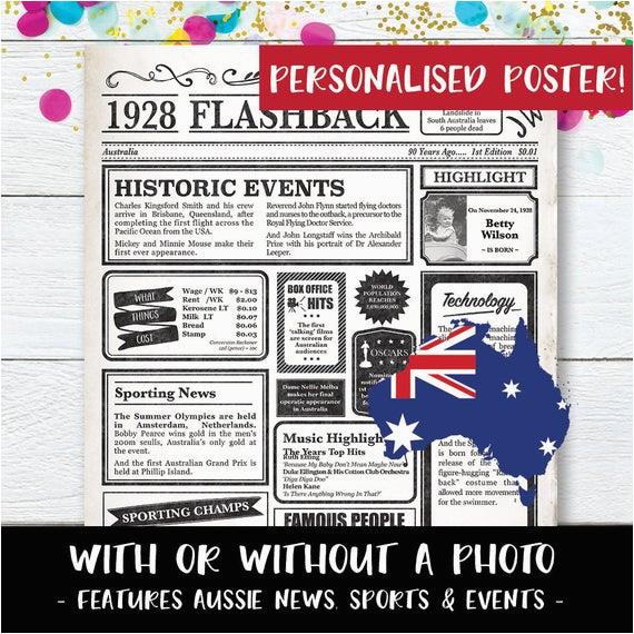 90th birthday poster australia