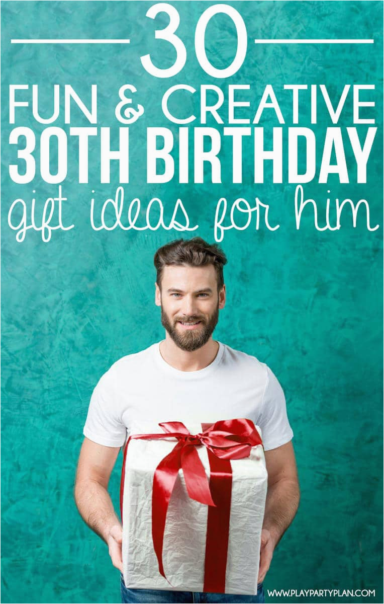 Best 30th Birthday Presents for Him 30 Creative 30th Birthday Gift Ideas for Him that He Will