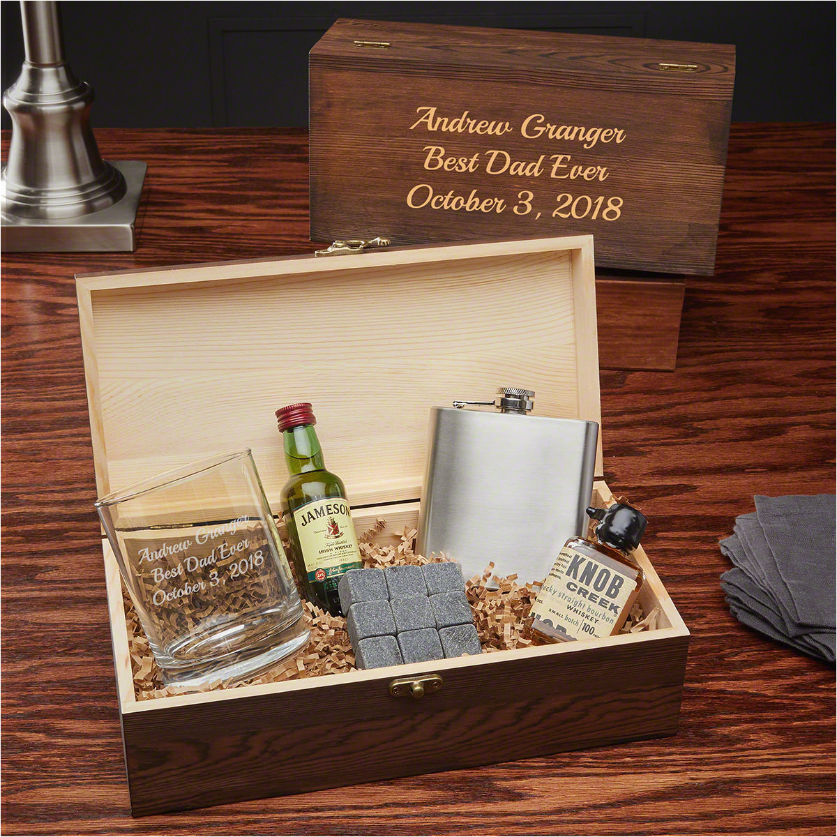 engraved taste of whiskey gift set for whiskey lovers 7326
