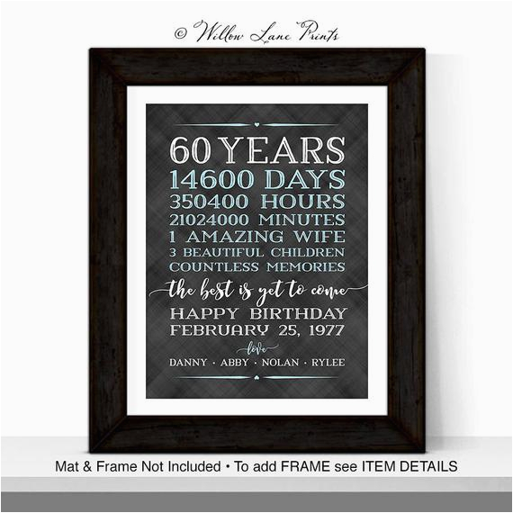 60th birthday gifts for men him husband