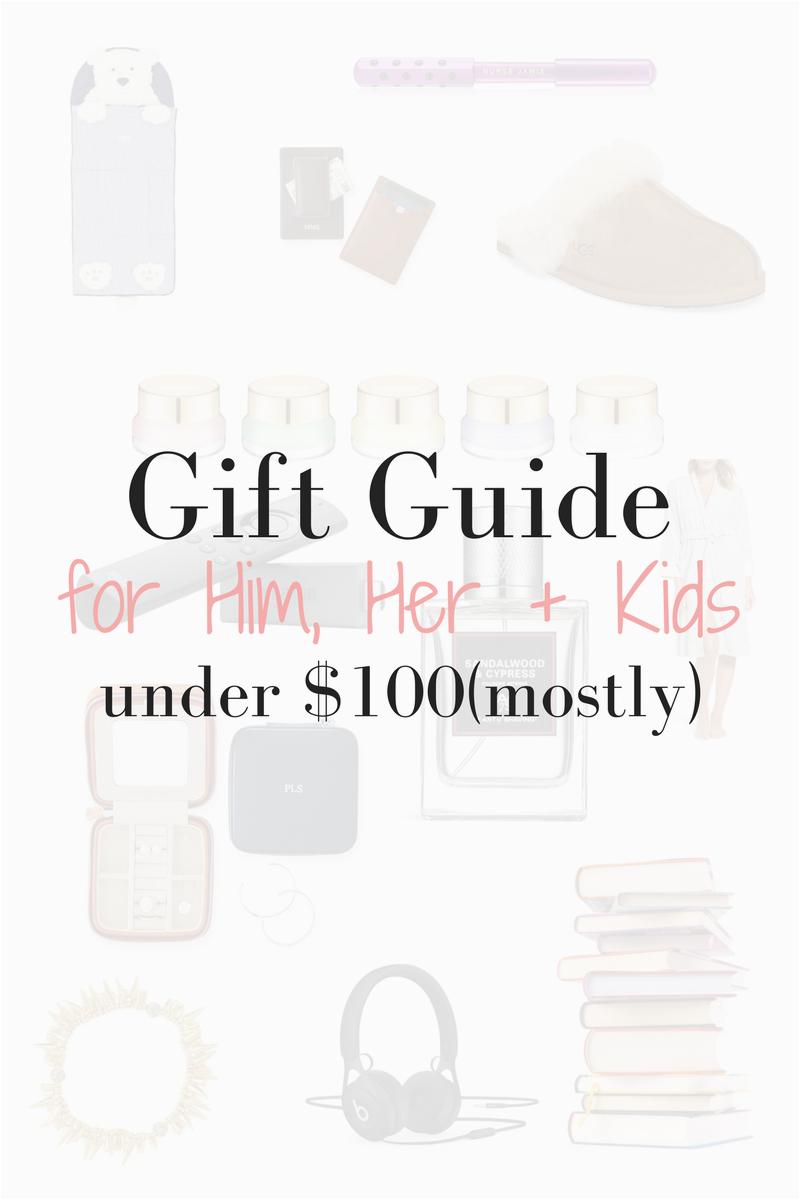 10 gift ideas for him her kids under 100
