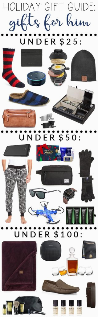 holiday gift guide best gifts for him under 25 50 100
