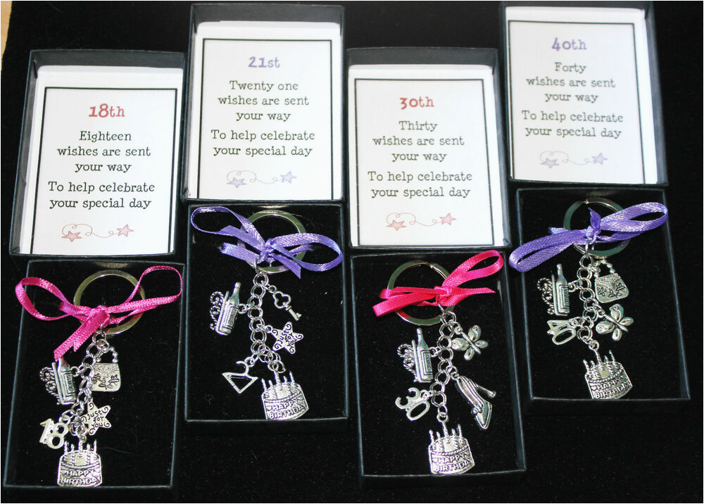 Birthday Gifts for 18th Male Keyring Keepsake Gift Happy Birthday 16th 18th 21st 30th