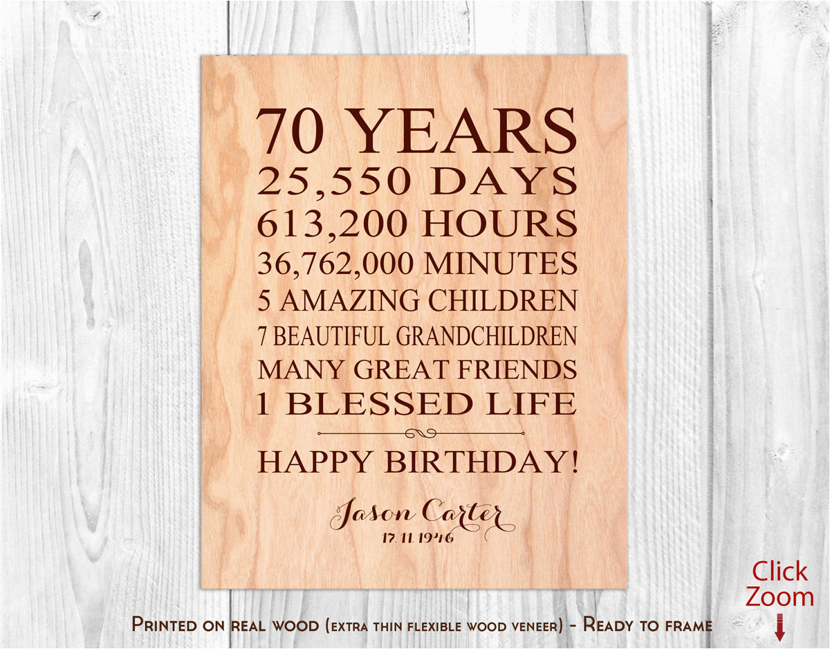 70th birthday gifts for men 70 year
