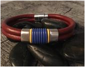 mens leather bracelet boyfriend gift