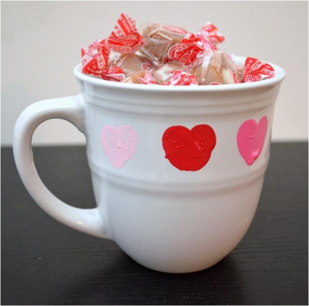 craft lightning thumbprint valentine mug