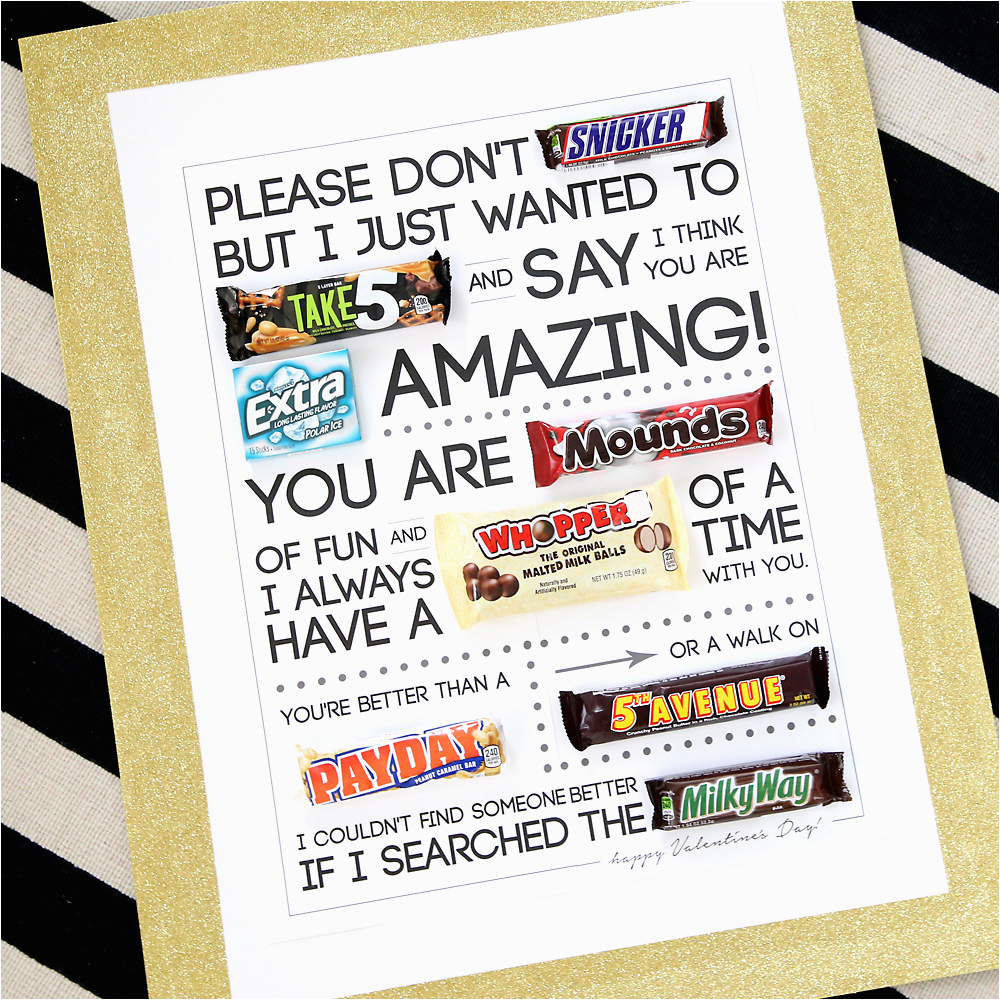 Birthday Gifts for Boyfriend Walmart Free Printable Valentine 39 S Day Candygram Candy Poster